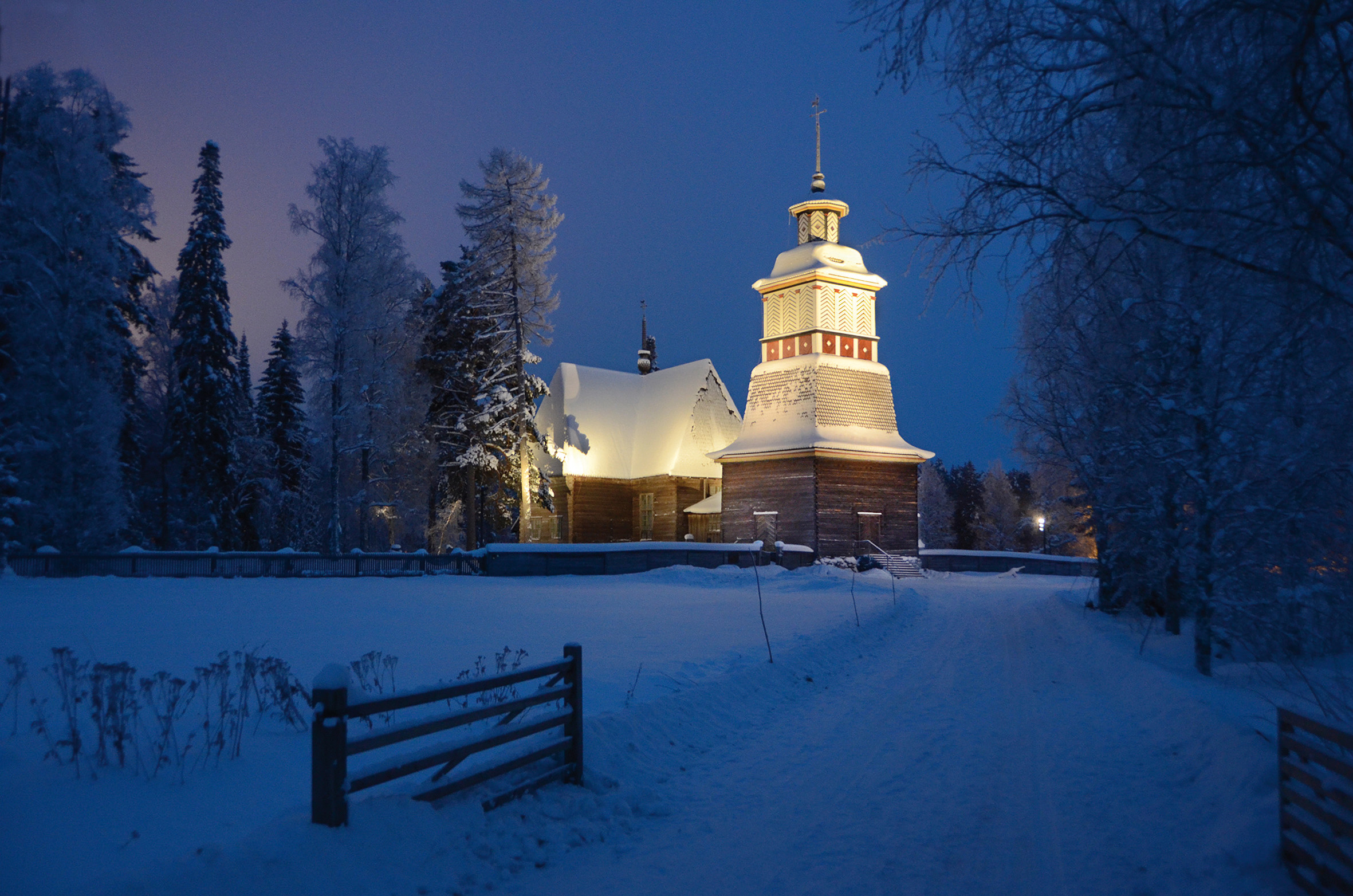 Petäjävesi Old Church in winter time