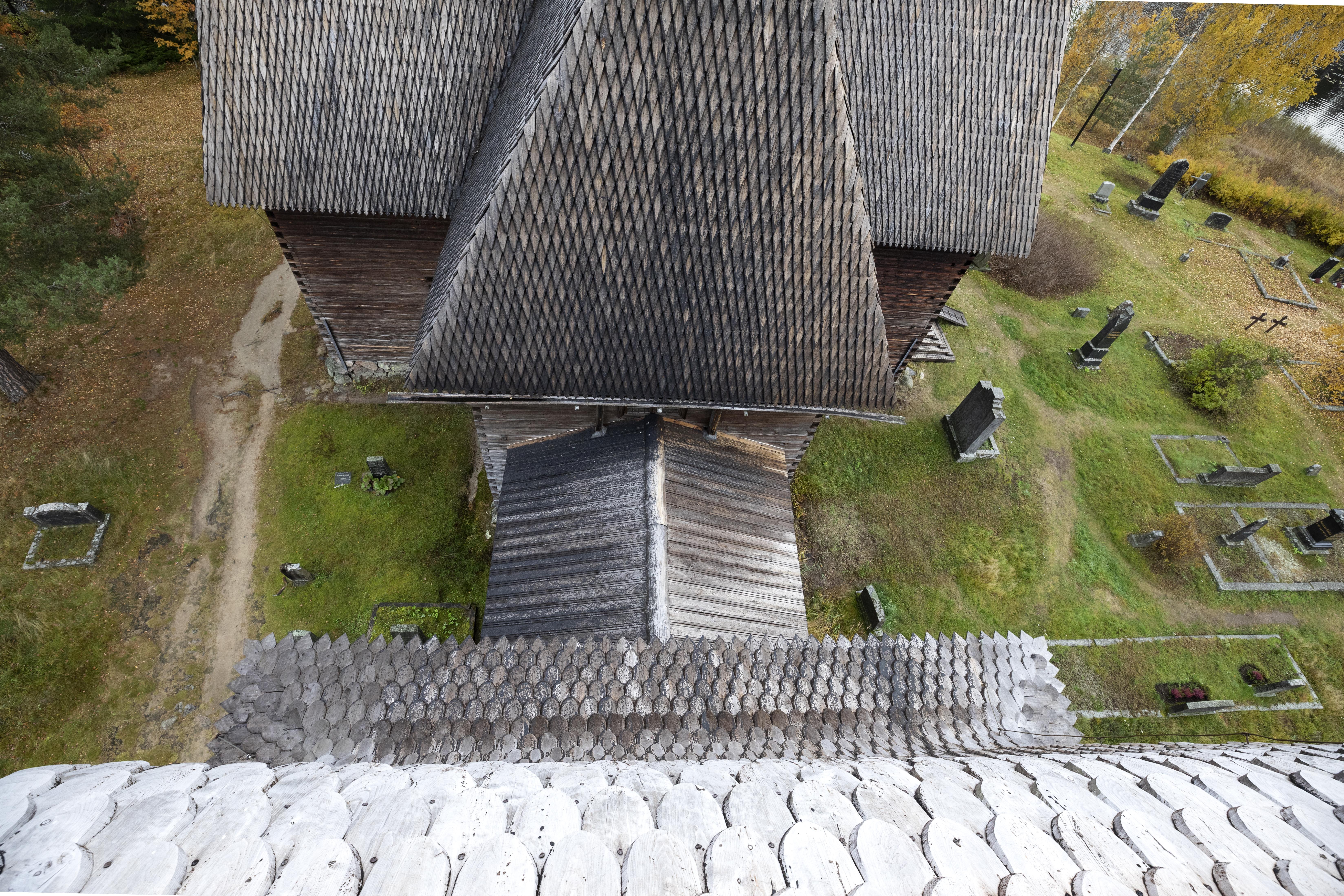 Petäjävesi Old Church from above